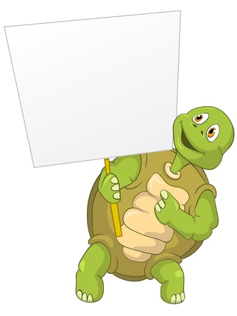 look out: Funny Turtle Illustration