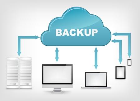 Service Cloud EPS 10 Vettoriali
