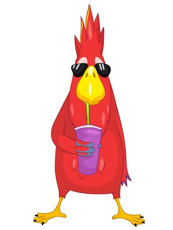 Funny Parrot  Cocktail  Stock Vector - 13640774
