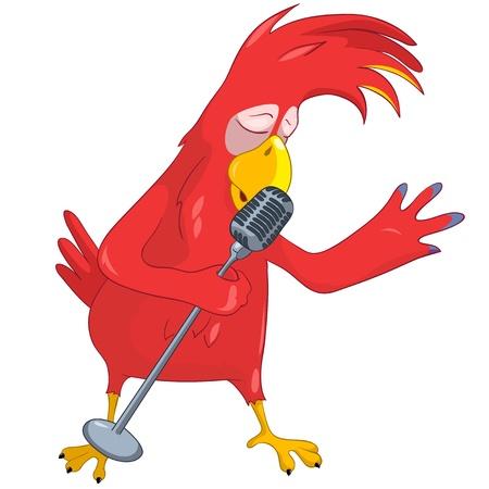 Funny Parrot Singing Reklamní fotografie - 13640782