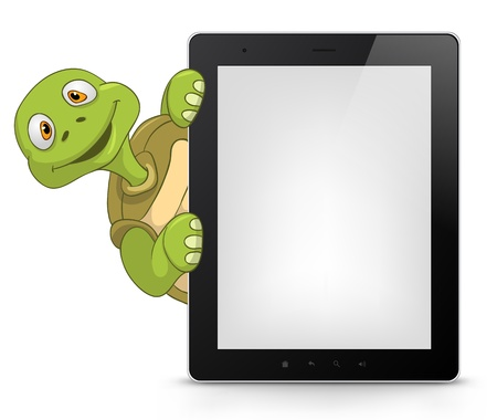 touch pad: Tablet PC Illustration