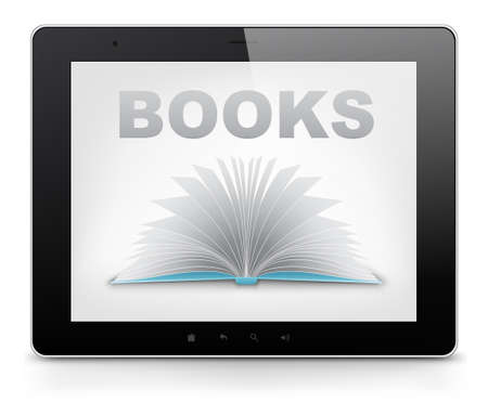 electronic book: Tablet PC  Vector EPS 10