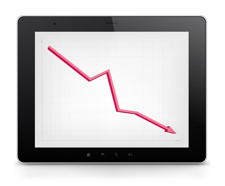collapsing: Tablet PC  Vector EPS 10