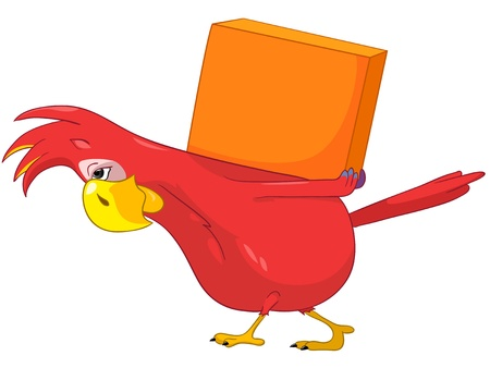 Funny Parrot  Delivery Stock Vector - 13963839
