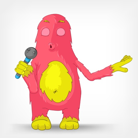 Funny Monster  Singing  Stock Vector - 14456015