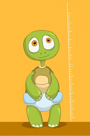 Cartoon Character Funny Turtle Isolated on White Background. Baby Measure Stock Vector - 14455827