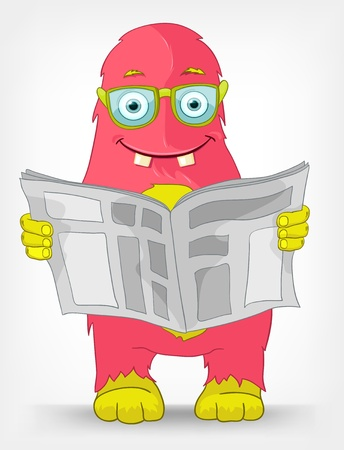 Funny Monster  News  Stock Vector - 14456135