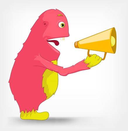 Funny Monster  Speaker Stock Vector - 14456010