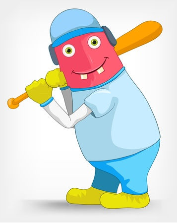 Funny Monster  Baseball  Vector