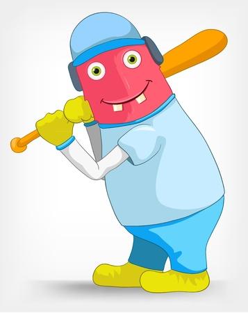 Funny Monster  Baseball Stock Vector - 14456167