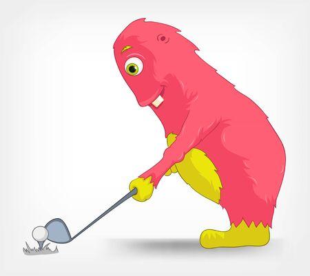 Funny Monster  Golf Stock Vector - 14456146