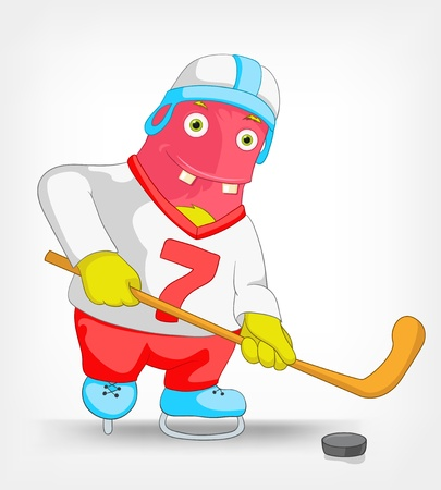 Funny Monster  Hockey  Stock Vector - 14456155
