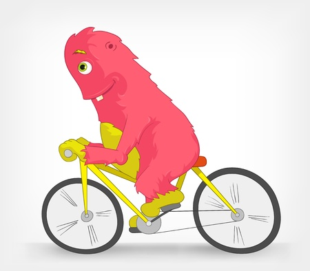 Funny Monster  Biker Stock Vector - 14456147