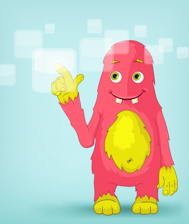 Funny Monster  Touch Screen Stock Vector - 14456169