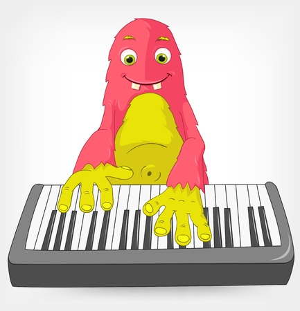Funny Monster  Pianist  Stock Vector - 14535786