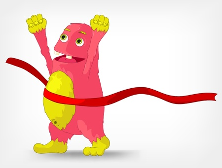 Funny Monster  Finish  Vector