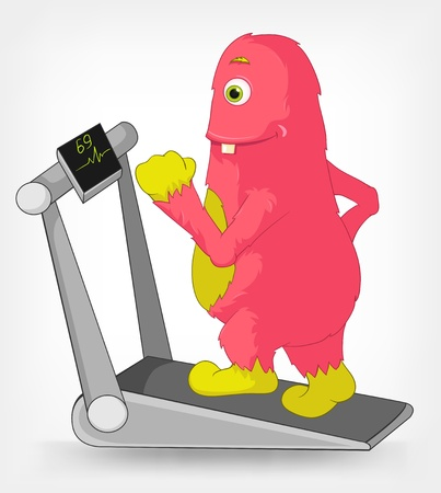 Funny Monster  Gym Stock Vector - 14535781