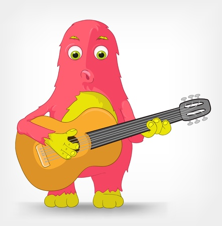 playing folk: Funny Monster  Guitarist