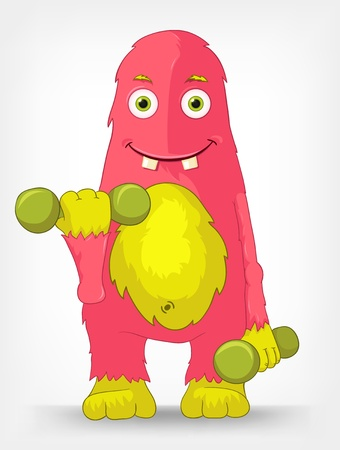 Funny Monster  Gym Stock Vector - 14535785