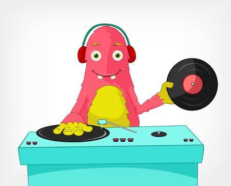 Funny Monster  DJ  Stock Vector - 14535776