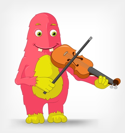 fiddle bow: Funny Monster  Violinist