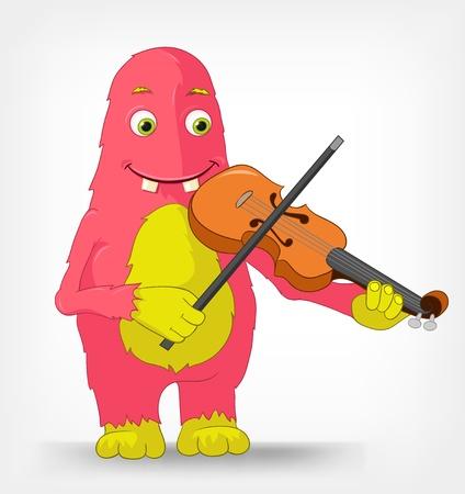 Funny Monster Violist