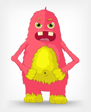 Funny Monster  Engry  Stock Vector - 14575700