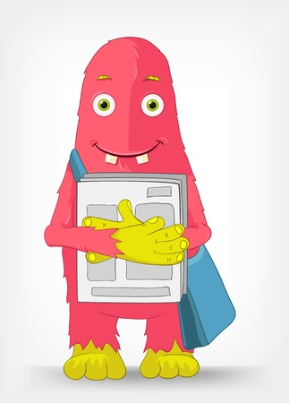 Funny Monster  Postman Stock Vector - 14575701
