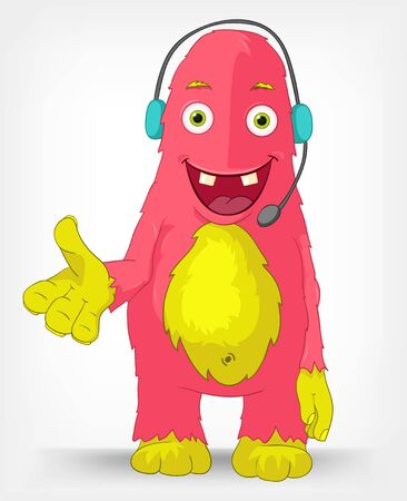 Funny Monster  Communication  Vector