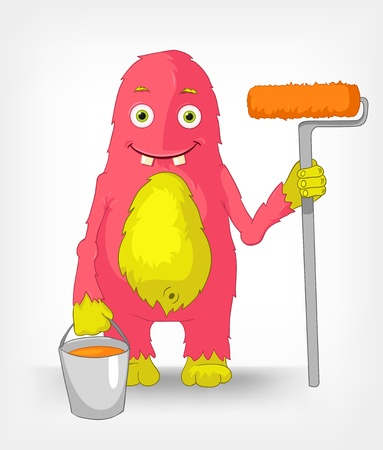 Funny Monster  Painter Stock Vector - 14575716