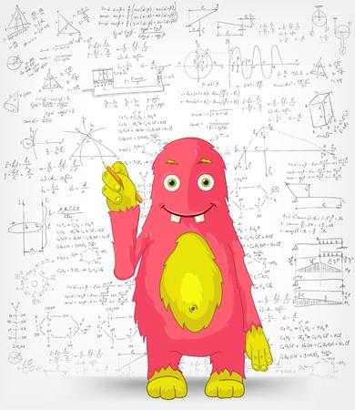 Grappige Monster Schrijver Stockfoto - 14575723