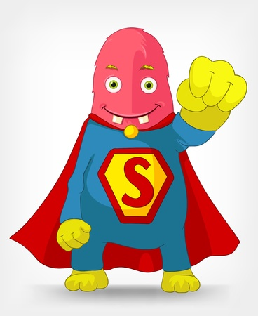 Funny Monster  Super hero  Stock Vector - 14575695