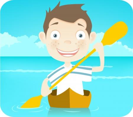canoe paddle: Cute Teenager