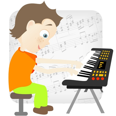 keyboard: Cute Teenager