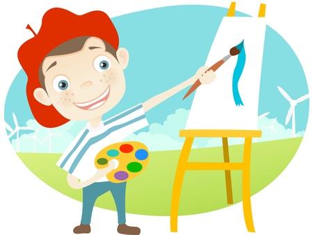 art painting: Cute Teenager