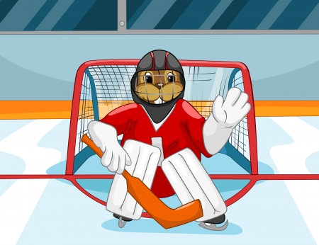 goalie: Beaver CREES Illustration