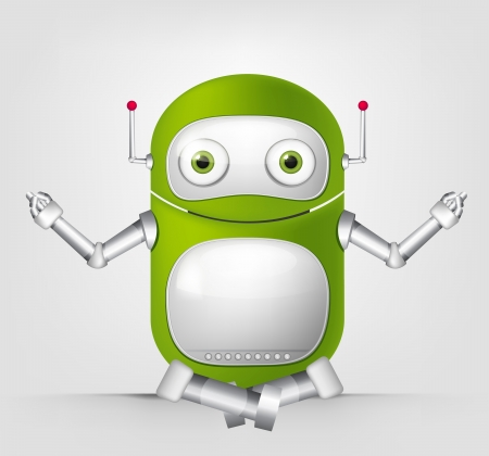 Cute Robot Stock Vector - 16065740