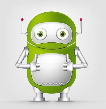 Cute Robot Stock Vector - 16065795