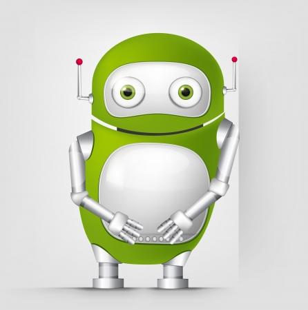 Cute Robot Stock Vector - 16065798