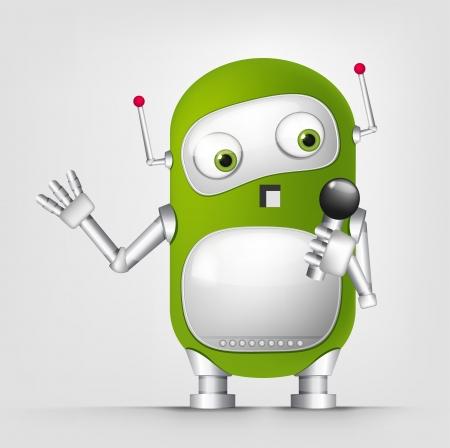 computer art: Cute Robot