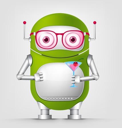 Cute Robot Stock Vector - 16065797
