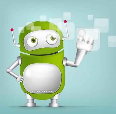 Cute Robot Stock Vector - 16065807