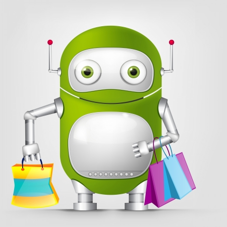 Cute Robot Stock Vector - 16065799