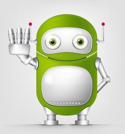 hand touch: Cute Robot