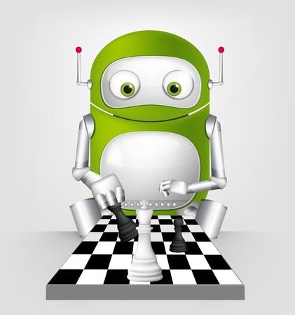 Cute Robot Stock Vector - 16065808