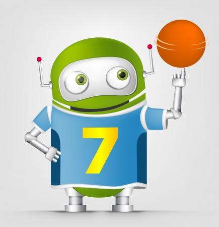 Cute Robot Stock Vector - 16065753