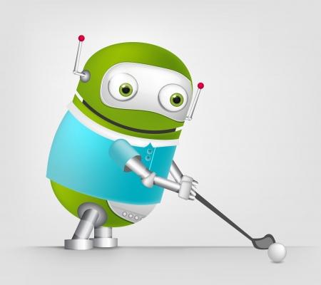 Cute Robot Stock Vector - 16065735