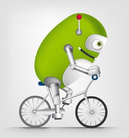 bicycler: Cute Robot