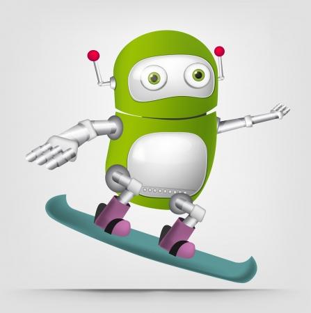 robot cartoon: Cute Robot