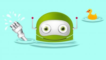Cute Robot Stock Vector - 16065732